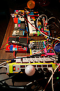 Dan Deacon's equipment. Dan Deacon plays a show with Ed Schrader, No Age, Deer Hunter and Dan Deacon play a show at Rhino's All Ages Club 5 Aug 2009. The show was a round robin.