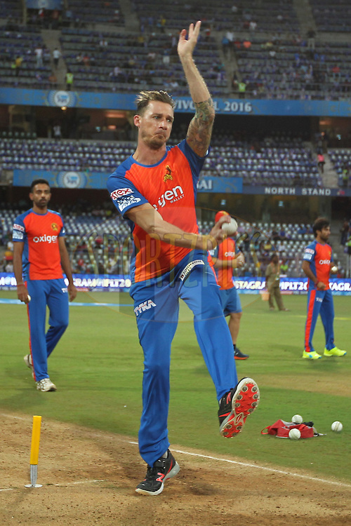 Dale Steyn of Gujrat Lions bowls during warmup before match 9 of the Vivo Indian Premier League ( IPL ) 2016 between the Mumbai Indians and the Gujarat Lions held at the Wankhede Stadium in Mumbai on the 16th April 2016Photo by Prashant Bhoot/ IPL/ SPORTZPICS