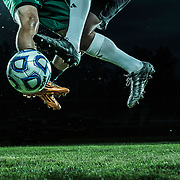 UVU Soccer Team photos on the soccer field on the campus of Utah Valley University in Orem, Utah Thursday May 28, 2014. (August Miller)