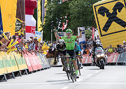 04.07.2017, Pöggstall, AUT, Ö-Tour, Österreich Radrundfahrt 2017, 2. Etappe von Wien nach Pöggstall (199,6km), im Bild Tom-Jelte Slagter (NED, Cannondale-Drapac Pro Cycling Team) Etappensieger // Tom-Jelte Slagter of Nederlands (Cannondale-Drapac Pro Cycling Team) during the 2nd stage from Vienna to Pöggstall (199,6km) of 2017 Tour of Austria. Pöggstall, Austria on 2017/07/04. EXPA Pictures © 2017, PhotoCredit: EXPA/ Reinhard Eisenbauer
