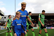 *** during the EFL Sky Bet League 1 match between AFC Wimbledon and Plymouth Argyle at the Cherry Red Records Stadium, Kingston, England on 21 October 2017. Photo by Matthew Redman.