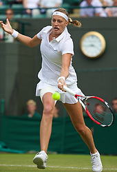 LONDON, ENGLAND - Wednesday, June 25, 2014: Petra Kvitova (CZE) during the Ladies' Singles 2nd Round match on day three of the Wimbledon Lawn Tennis Championships at the All England Lawn Tennis and Croquet Club. (Pic by David Rawcliffe/Propaganda)