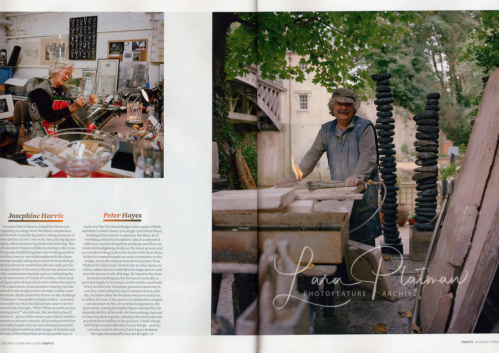 CRAFTS magazine, words and pictures by LARA PLATMAN and intor by Grant Gibson.