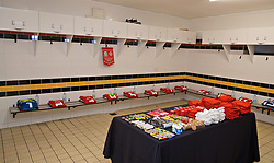 NEWPORT, WALES - Tuesday, September 3, 2019: The Wales dressing room before the UEFA Women Euro 2021 Qualifying Group C match between Wales and Northern Ireland at Rodney Parade. (Pic by David Rawcliffe/Propaganda)