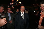A.A. Gill, A A Gill party to celebrate the  publication of Table Talk, a collection of his reviews. Hosted by Marco Pierre White at <br />