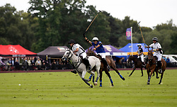 La Indiana's Facundo Pieres before scoring the winning goal the Cartier Queen's Cup final at Guards Polo Club, Windsor Great Park, Surrey.