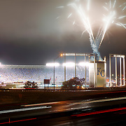 Kauffman Stadium, Kansas City, Missouri, Game 1 of 2015 Major League Baseball World Series, Kansas City Royals VS New York Mets