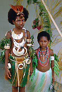 Children in traditional dress, Papua New Guinea