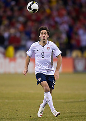 United States forward Clint Dempsey (8) in action against Mexico.  The United States men's soccer team defeated the Mexican national team 2-0 in CONCACAF final group qualifying for the 2010 World Cup at Columbus Crew Stadium in Columbus, Ohio on February 11, 2009.