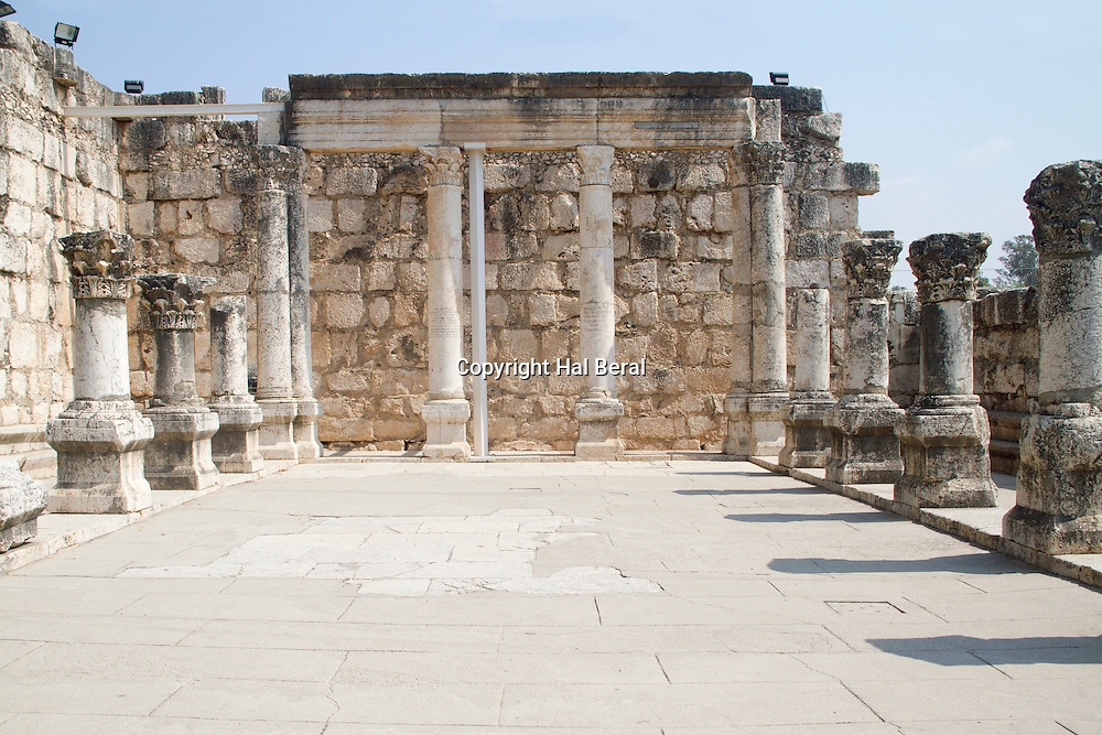 Synagogue from the 4th century AD<br /> Capernaum,Israel