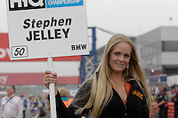 2008 British Touring Car Championship.Silverstone, Northamptonshire, United Kingdom.  30th-31st August 2008..Team RAC BMW Grid Girl.World Copyright: Peter Taylor/PSP