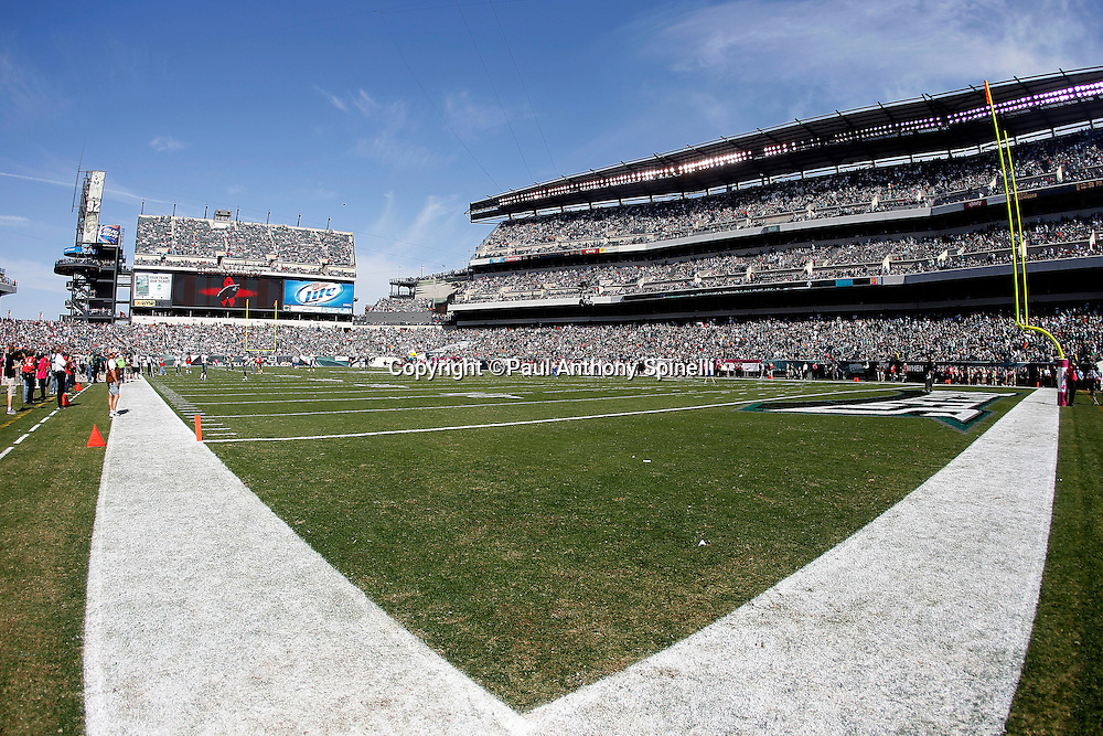 General view of Lincoln Financial Field prior to the Philadelphia Eagles NFL week 6 football game against the Atlanta Falcons on Sunday, October 17, 2010 in Philadelphia, Pennsylvania. The Eagles won the game 31-17. (©Paul Anthony Spinelli)