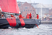 Puma sailing at the start of the Volvo Ocean Race, Leg 7.