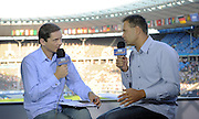 (L) PRZEMYSLAW BABIARZ & (R) SEBASTIAN CHMARA IN TV STUDIO TVP POLAND BROADCASTING ON THE OLYMPIC STADION ( OLIMPIASTADION ) DURING 12TH IAAF WORLD CHAMPIONSHIPS IN ATHLETICS BERLIN 2009..BERLIN , GERMANY , AUGUST 19, 2009..( PHOTO BY ADAM NURKIEWICZ / MEDIASPORT )..PICTURE ALSO AVAIBLE IN RAW OR TIFF FORMAT ON SPECIAL REQUEST.