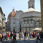 FLORENCE, ITALY - June 3, 2013 : The Duomo, Florence Cathedral, UNESCO World Heritage Site