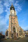 Hugo Grotius statue Nieuwe Kerk, Delft, Netherlands