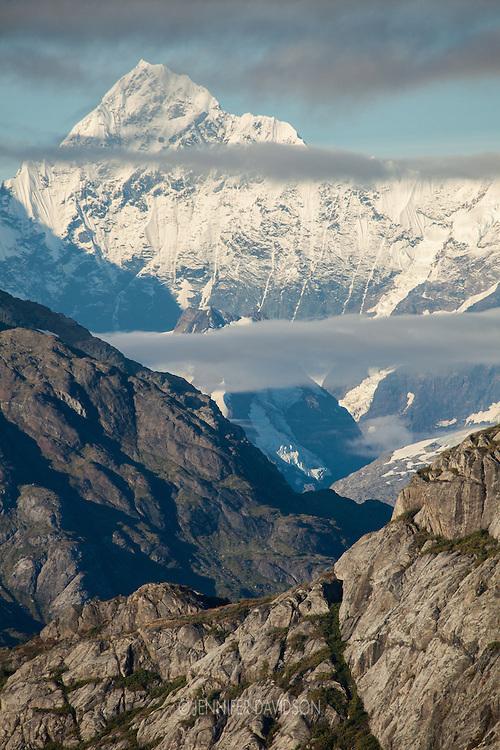Mountain scene in Glacier Bay National Park, Alaska.