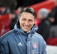 FUSSBALL CHAMPIONS LEAGUE SAISON 2018/2019 ACHTELFINAL HINSPIEL FC Liverpool - FC Bayern Muenchen          19.02.2019 Trainer Niko Kovac (FC Bayern Muenchen) lacht