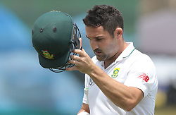 July 13, 2018 - Galle, Sri Lanka - South African cricketer Dean Elgar leaves the field after his dismissal during the 3rd day's play in the first Test cricket match between Sri Lanka and South Africa at Galle International cricket stadium, Galle, Sri Lanka on Saturday 14 July 2018. (Credit Image: © Tharaka Basnayaka/NurPhoto via ZUMA Press)