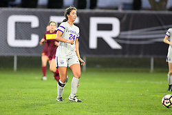 04 November 2016: Colleen Dierkes  during an NCAA Missouri Valley Conference (MVC) Championship series women's semi-final soccer game between the Loyola Ramblers and the Evansville Purple Aces on Adelaide Street Field in Normal IL