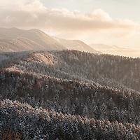 Blick von der Zinne (Tâmpa) Richtung Schuler (Postâvarul), Kronstadt (Brașov), Siebenbürgen/Transylvanien, Rumänien * Brașov, Transsylvania, Romania