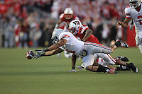 MADISON, WI - OCTOBER 16: Dan Herron #1 of the Ohio State Buckeyes chases after a fumble against the Wisconsin Badgers at Camp Randall Stadium on October 16, 2010 in Madison, Wisconsin. Wisconsin defeated Ohio State 31-18. (Photo by Tom Hauck) Player:Dan Herron;