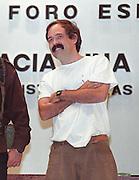 Marcos and Javier Elloriaga at the Forum on Indigenous Rights in San Cristobal de las Casas, Chiapas, 1995
