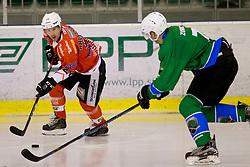 Victor Ahlstrom of Rittner Baum during hockey match between HK SZ Olimpija (SLO) and Rittner Buam (ITA) in 1st round of Alps Hockey League 2017/18, on September 13, 2017 in Tivoli, Ljubljana, Slovenia. Photo by Urban Urbanc / Sportida