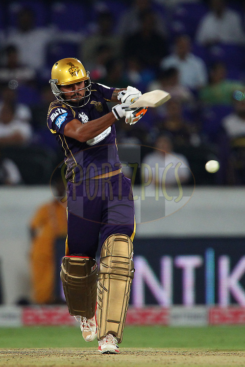 Manish PANDEY of the Kolkata Knight Riders  during the first semi final match of the Oppo Champions League Twenty20 between the Kolkata Knight Riders and the Hobart Hurricanes held at the Rajiv Gandhi Cricket Stadium, Hyderabad, India on the 2nd October 2014<br /> <br /> Photo by:  Ron Gaunt / Sportzpics/ CLT20<br /> <br /> <br /> Image use is subject to the terms and conditions as laid out by the BCCI/ CLT20.  The terms and conditions can be downloaded here:<br /> <br /> http://sportzpics.photoshelter.com/gallery/CLT20-Image-Terms-and-Conditions-2014/G0000IfNJn535VPU/C0000QhhKadWcjYs