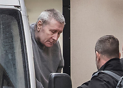 © Licensed to London News Pictures. 07/02/2018. London, UK. JOHN WORBOYS is seen in handcuffs being escorted in to the High Court in London where two of his victims are due to challenge the decision to release him from prison. London Mayor Sadiq Khan will also urge Sir Brian Leveson and Mr Justice Garnham to allow judicial review action against the Parole Board. Photo credit: Peter Macdiarmid/LNP