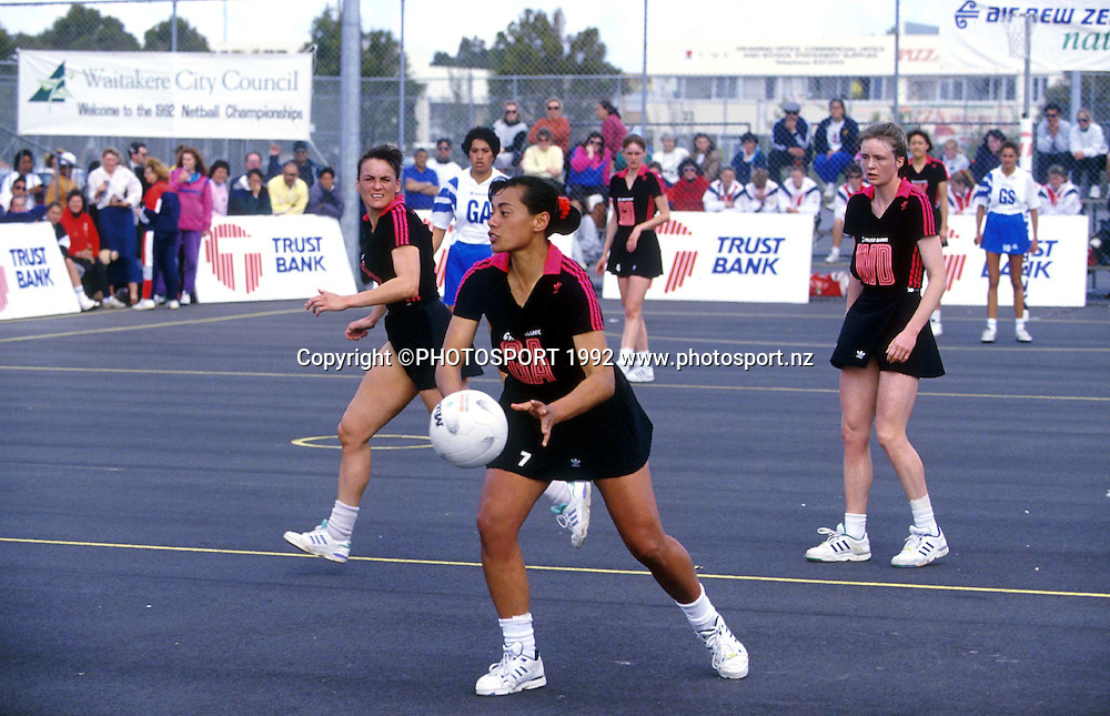 April Ieremia. Canterbury, Caltex Cup Netball, 1992. PHOTOSPORT