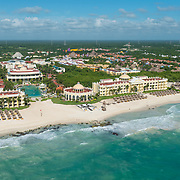 Aerial view of the Iberostar Hotels on the Riviera Maya. Mexico