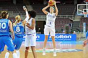 DESCRIZIONE : Riga Latvia Lettonia Eurobasket Women 2009 final 5th-6th Place Italia Grecia Italy Greece<br /> GIOCATORE : Simona Ballardini<br /> SQUADRA : Italia Italy<br /> EVENTO : Eurobasket Women 2009 Campionati Europei Donne 2009 <br /> GARA : Italia Grecia Italy Greece<br /> DATA : 20/06/2009 <br /> CATEGORIA : tiro<br /> SPORT : Pallacanestro <br /> AUTORE : Agenzia Ciamillo-Castoria/M.Marchi<br /> Galleria : Eurobasket Women 2009 <br /> Fotonotizia : Riga Latvia Lettonia Eurobasket Women 2009 final 5th-6th Place Italia Grecia Italy Greece<br /> Predefinita :