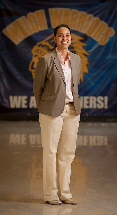 Principal Inge Garibaldi at Welch Middle School, May 14, 2013. Garibaldi was named assistant principal of the year for her work at Williams Middle School.