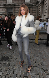 Millie Mackintosh attends the Jean-Pierre Braganza during London Fashion Week Fall/Winter 2015/16 at Somerset House in London, UK. 20/02/2015<br />BYLINE MUST READ : GOTCHAIMAGES.COM<br /><br />Copyright by © Gotcha Images Ltd. All rights reserved.<br />Usage of this image is conditional upon the acceptance <br />of Gotcha Images Ltd, terms and conditions available at<br />www.gotchaimages.com