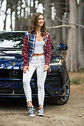 August 22-26, 2018. Model Rachel Cooke and the Lamborghini Urus