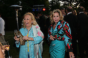 JACKIE ROFFE AND MARY SULLIVAN. The Summer Party in association with Swarovski. Co-Chairs: Zaha Hadid and Dennis Hopper, Serpentine Gallery. London. 11 July 2007. <br /> -DO NOT ARCHIVE-© Copyright Photograph by Dafydd Jones. 248 Clapham Rd. London SW9 0PZ. Tel 0207 820 0771. www.dafjones.com.