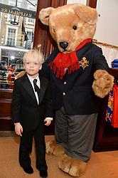 AMADEUS BECKER at the 4th birthday party for Amadeus Becker, son of Boris & Lilly Becker held at Ralph Lauren, 143 New Bond Street, London on 9th February 2014.