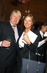 STANLEY JOHNSON the MARCHIONESS OF DOURO at a party to celebrate the publication of 'Princesses' the six daughters of George 111 by Flora Fraser held at the Saville Club, Brook Street, London W1 on 14th September 2004.<br /><br />NON EXCLUSIVE - WORLD RIGHTS