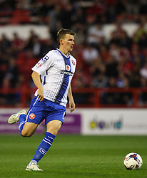 Paul Downing of Walsall in action - Mandatory byline: Jack Phillips / JMP - 07966386802 - 11/08/15 - FOOTBALL - The City Ground - Nottingham, Nottinghamshire - Nottingham Forest v Walsall - Football League Cup Round 1