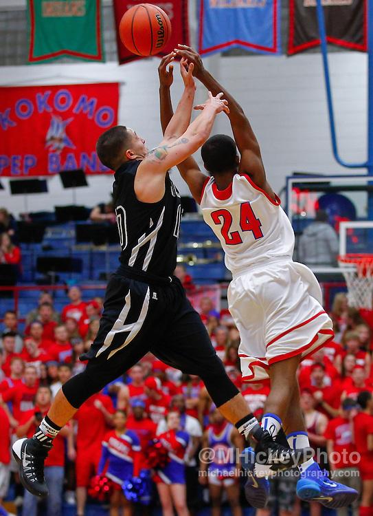 Kokomo Wildkats vs Western Panthers high school basketball at Memorial Gym in Kokomo, Indiana.