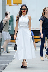 Jenna Dewan looks radiant in a white dress while out and about in New York City. 20 Jul 2017 Pictured: Jenna Dewan. Photo credit: ZapatA/MEGA TheMegaAgency.com +1 888 505 6342