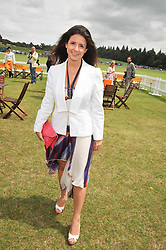 SHIRLEY LEIGH-WOOD OAKES at the 2009 Veuve Clicquot Gold Cup Polo final at Cowdray Park Polo Club, Midhurst, West Sussex on 19th July 2009.