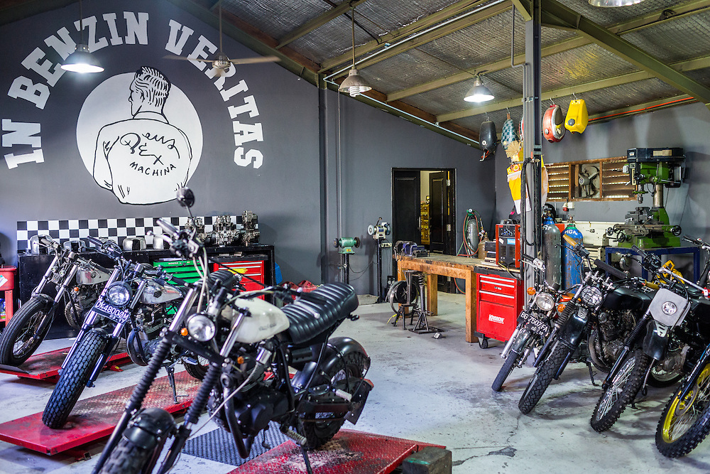 Deus custom motorcycle garage in Canggu.  Bali, Indonesia.