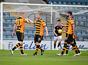 Alloa Athletic's Craig Malcolm is congratulated by Alan Cook after scoring the opener - Dundee under 20s v Alloa Athletic in the Irn Bru Cup Round 1 at Dens Park, Dundee - photograph by David Young<br /> <br />  - &copy; David Young - www.davidyoungphoto.co.uk - email: davidyoungphoto@gmail.com