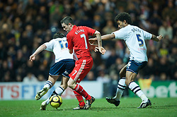 PRESTON, ENGLAND - Saturday, January 3, 2009: Liverpool's Robbie Keane and Preston North End's Sean St. Ledger and Youl Mawene during the FA Cup 3rd Round match at Deepdale. (Photo by David Rawcliffe/Propaganda)
