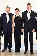 Queen Letizia of Spain, King Felipe VI of Spain attends a Dinner in honor of the winners of the prize 'Mariano de Cavia', 'Luca de Tena' and 'Mingote' at ABC newspaper headquarters on December 10, 2015 in Madrid