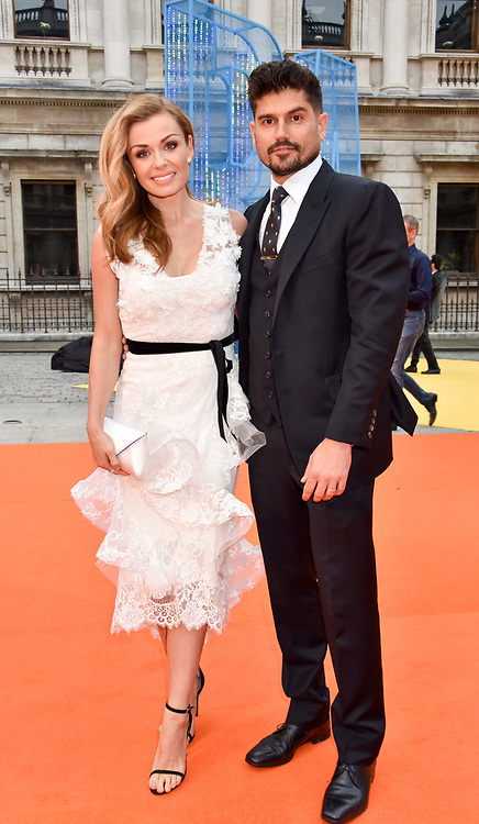 Katherine Jenkins and Andrew Levitas at the Royal Academy of Arts Summer Exhibition Preview Party 2017, Burlington House, London England. 7 June 2017.