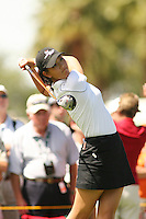 March 26, 2005; Rancho Mirage, CA, USA;  15 year old amateur Michelle Wie tees off at the 12th hole during the 3rd round of the LPGA Kraft Nabisco golf tournament held at Mission Hills Country Club.  Wie shot a 1 over par 73 for the day and was tied for 21st at one over par 217.<br />Mandatory Credit: Photo by Darrell Miho <br />&copy; Copyright Darrell Miho