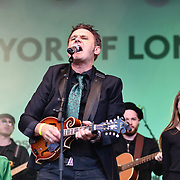 Don Mescall live performances show with music and dane was given to the Thousands who packed in Trafalgar Square to celebrate St Patrick day 2019 on 17 March 2019, London, UK.